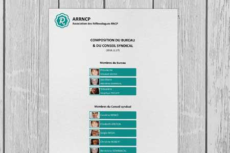Organigramme de l'ARRNCP