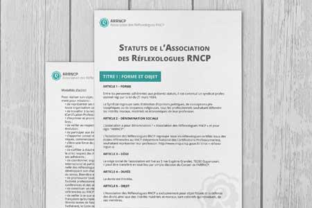 Statuts officiels de l'ARRNCP