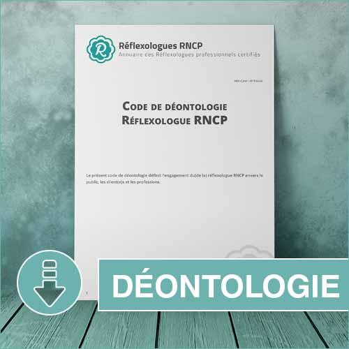 Code de Déontologie Réflexologues RNCP