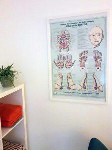 cabinet réflexologie - poster
