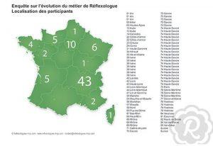 Carte de france - Réflexologues