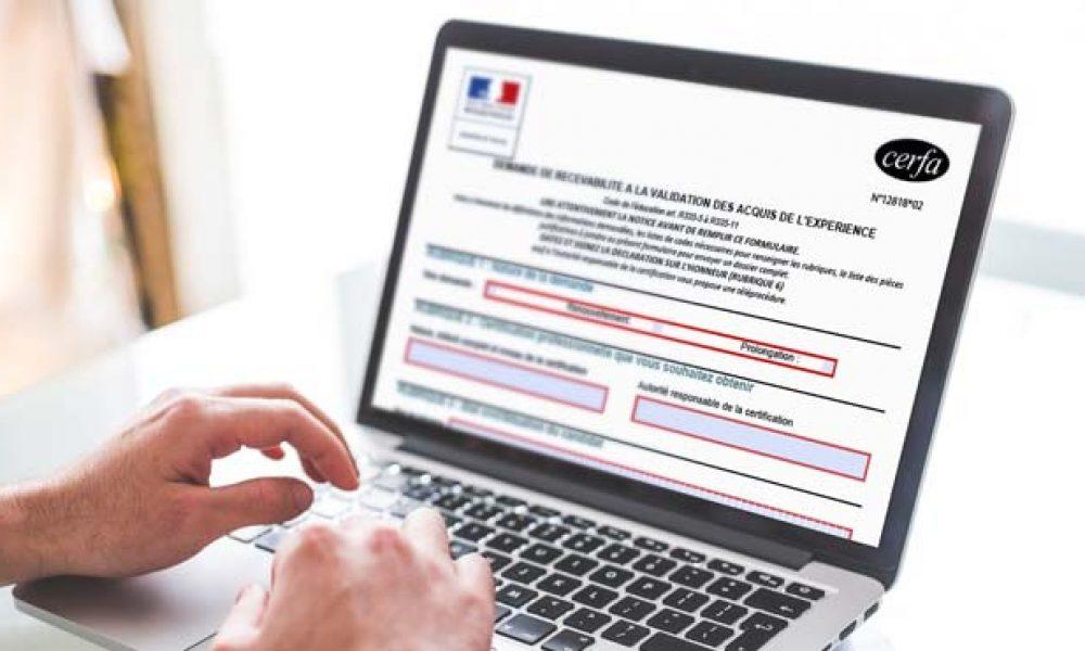 VAE - formulaire cerfa 12818*02