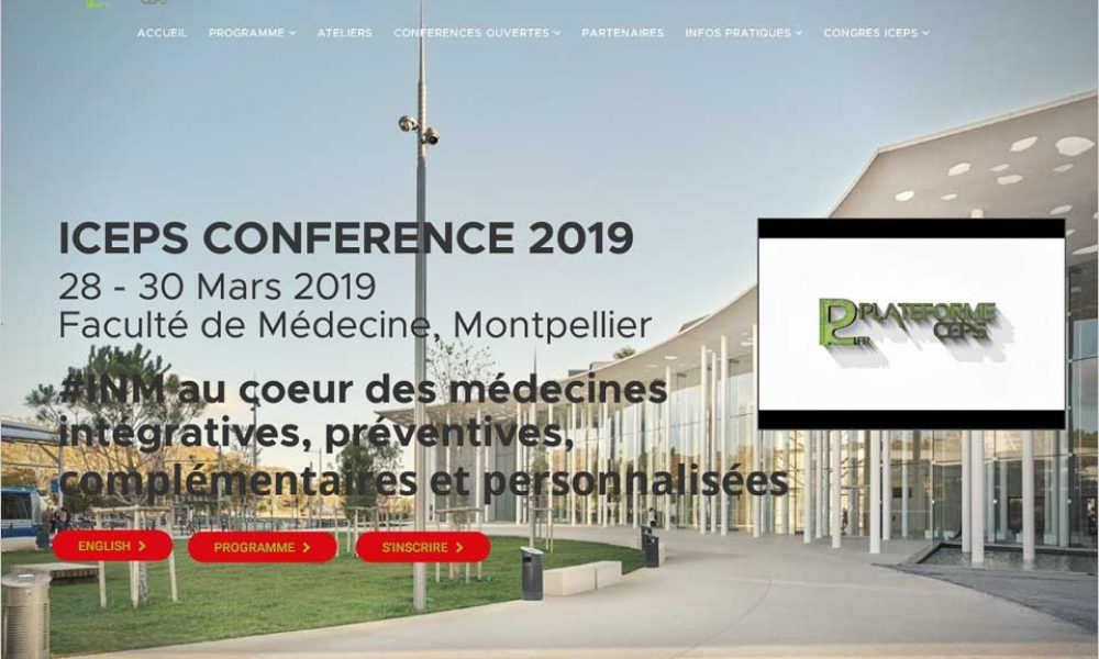 Site internet Conférence iCEPS 2019 Montpellier