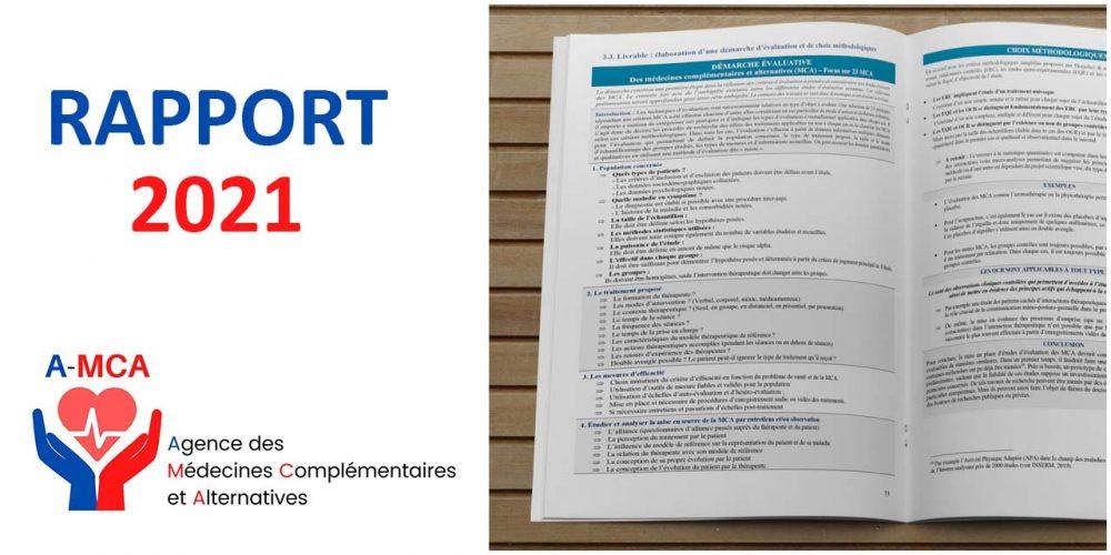 Rapport 2021 de l'Agence des Médecines Complémentaires et Alternatives