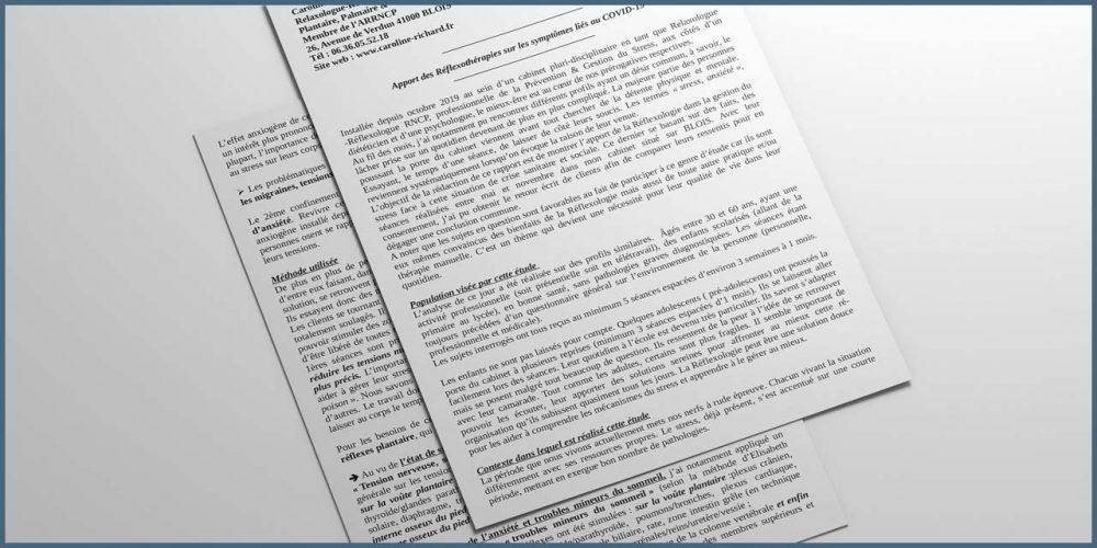Apport des Réflexothérapies sur les symptômes liés au COVID-19