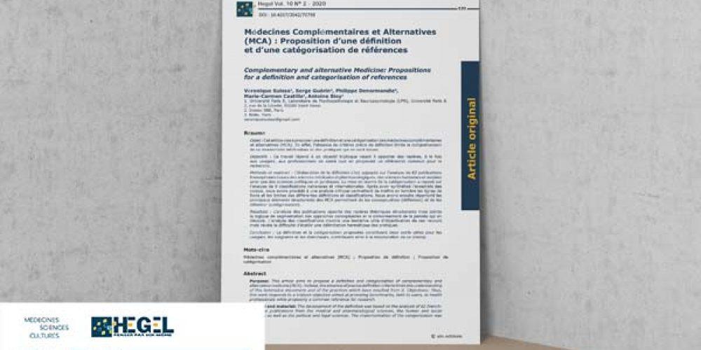 Médecines Complémentaires ou Alternatives : proposition d'une définition et d'une catégorisation de références
