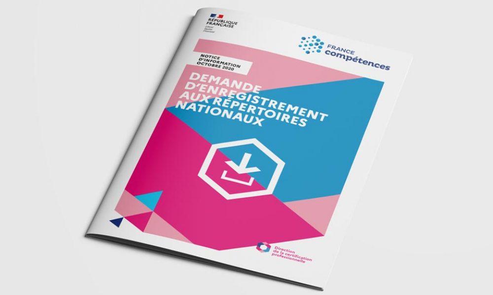 France Competence - Notice Demande enregistrement aux repertoires nationaux