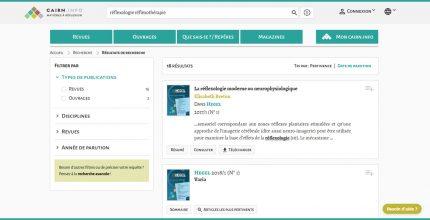 Articles sur les réflexologies et les réflexothérapies sur la plateforme Cairn.info